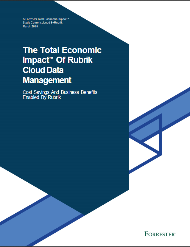 Forside The Total Economic Impact of Rubrik Cloud Data Management